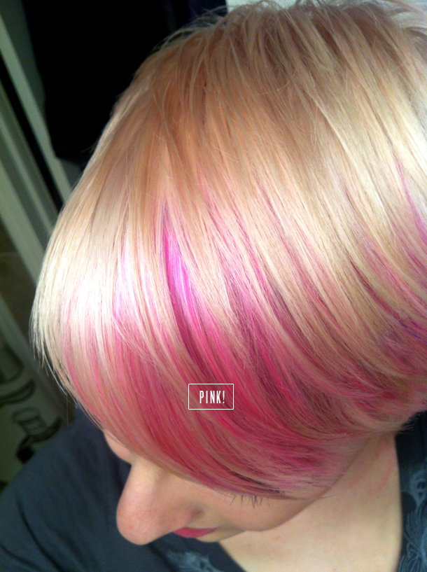"""... """" My New Do: platinum blush pixie haircut with pink highlights"""