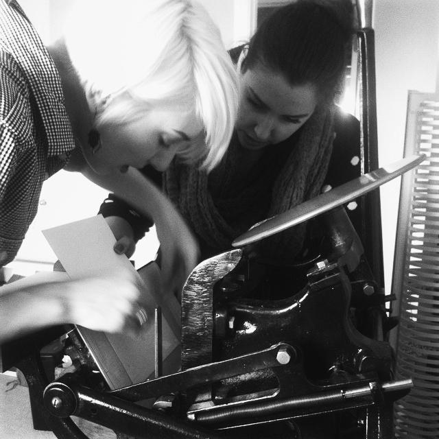 Edmonton Uppercase Press Letterpress Workshop: DutchieLove
