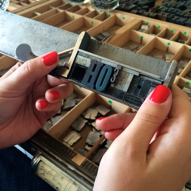 Edmonton Uppercase Press Letterpress Workshop: Christmas letterpress card idea
