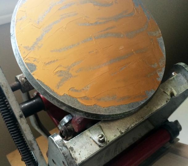 Edmonton Uppercase Press Letterpress Workshop: Gold ink